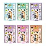 GranataPet Delicatessen Multipack, Nassfutter für Katzen im Probierpaket, Alleinfuttermittel ohne Getreide, Katzenfutter mit hohem Fleischanteil & hochwertigen Ölen, 6 x 85 g