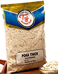 TAJ Gourmet Foods provides the best of quality. We stand behind our product when it comes to quality and satisfaction. All Natural, No additives, no preservatives. Poha is the healthiest option; it also makes for a great snack Also known as Flattened...