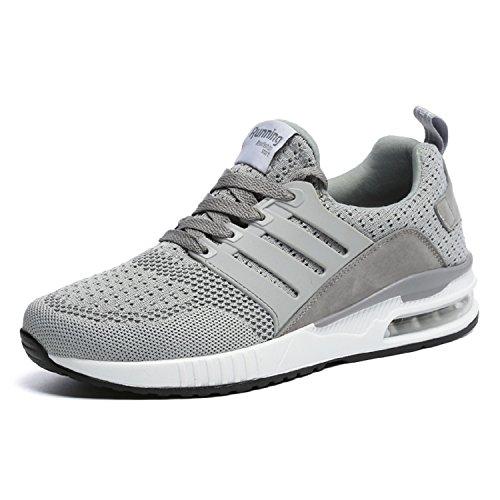 tqgold Herren Damen Sportschuhe Laufschuhe Bequem Atmungsaktives Turnschuhe Sneakers Gym Fitness Leichte Schuhe (Grau,Größe 38)