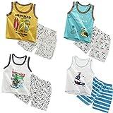 XM-Amigo 8 Paquetes de Chalecos sin Mangas para bebés, Camisetas sin Mangas, Blusas sin Mangas, Pantalones Cortos, Conjuntos de Ropa, Edad, 6-18 Meses (Altura Recomendada del niño: 73-80 cm)