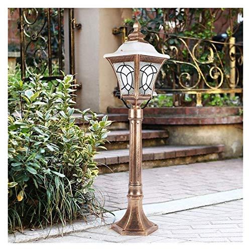 Luz de poste Pilar impermeable IP55 Luz Columna metal de aluminio patio poste de la puerta de la lámpara E27 comunidad tradicional Lawn Porche Permanente luz al aire libre de la lámpara de la linterna