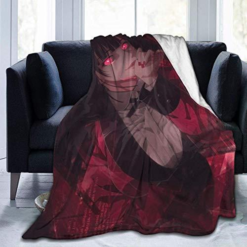 shenguang Kakegurui - Manta de Forro Polar para sofá, Manta cálida y acogedora para niños y Adultos