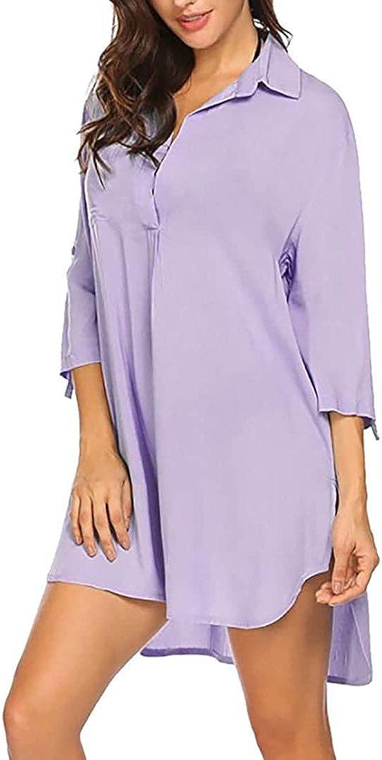 Cover Up Dresses for Women, Women's Cover Up Shirt V Neck Swimsuit Beach Bikini Beachwear Bathing Suit Beach Sundress
