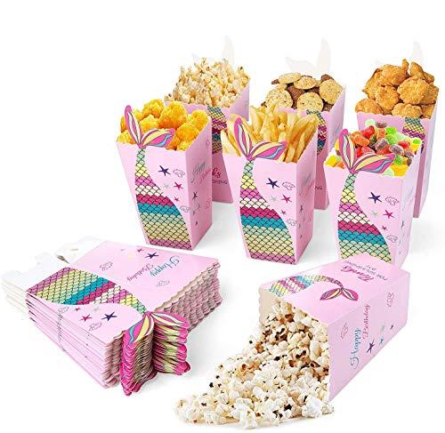 Maojuee 40 PCS Scatole di Popcorn Scatole di Caramella Contenitori di Popcorn Contenitori di Caramelle per Spuntini del Partito, Dolci, Popcorn e Regali per Feste, Movie Nights Carnival Christmas