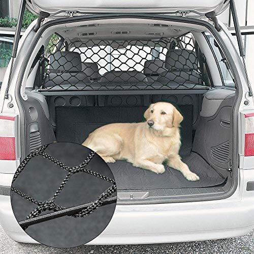 Hundegitter für Auto Hundeschutznetz Auto Isolation Pet Barrier Net Zurück Trunk Safety Pet Net Fahrzeugsicherheit Mesh Einstellbare 90 CM 30 CM