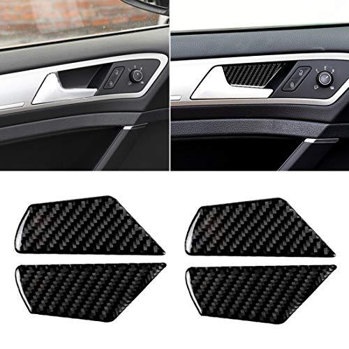 Autoaccessoires, sticker, deurbel, deurgreep, binnen, koolstofvezel, voor VW Golf 7 2013-2017, binnenlijsten