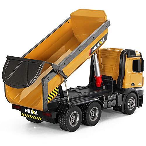 FFXZL 1:14 Escala RC Juguete Camión volquete Control Remoto Juguete Aleación Modelo de vehículo de ingeniería Juguete de 10 Canales Hobby Grado 2.4 GHz Niño niña Regalo de cumpleaños