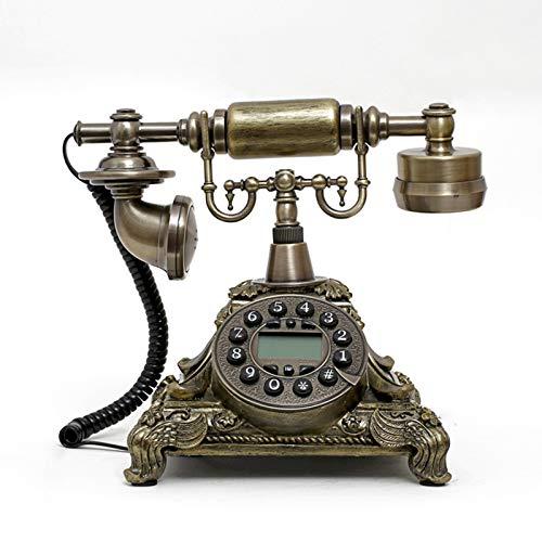 Cajolg Teléfono Fijo Retro Teléfono Fijo Retro Vintage Estilo Antiguo Botón de dial Giratorio Escritorio Teléfono Teléfono Hogar Sala de Estar Decoración para el hogar Decoración de Escritorio