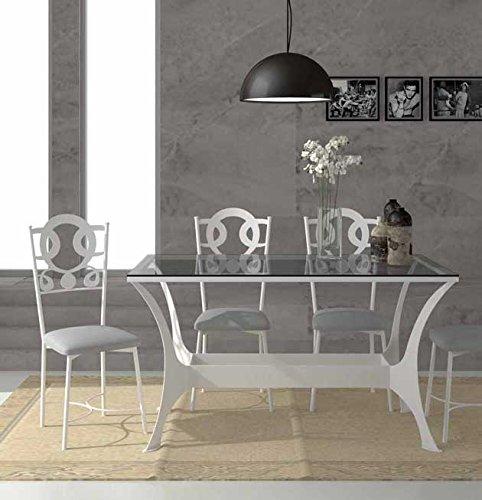 ARTESANIA REYES Mesas de Comedor en Forja : Coleccion Oslo RYS 140x78x80