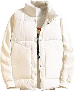 Fubotevic Men Faux Fur Fleece Sleeveless Fall Winter Warm Waistcoat Vest Jacket Coat
