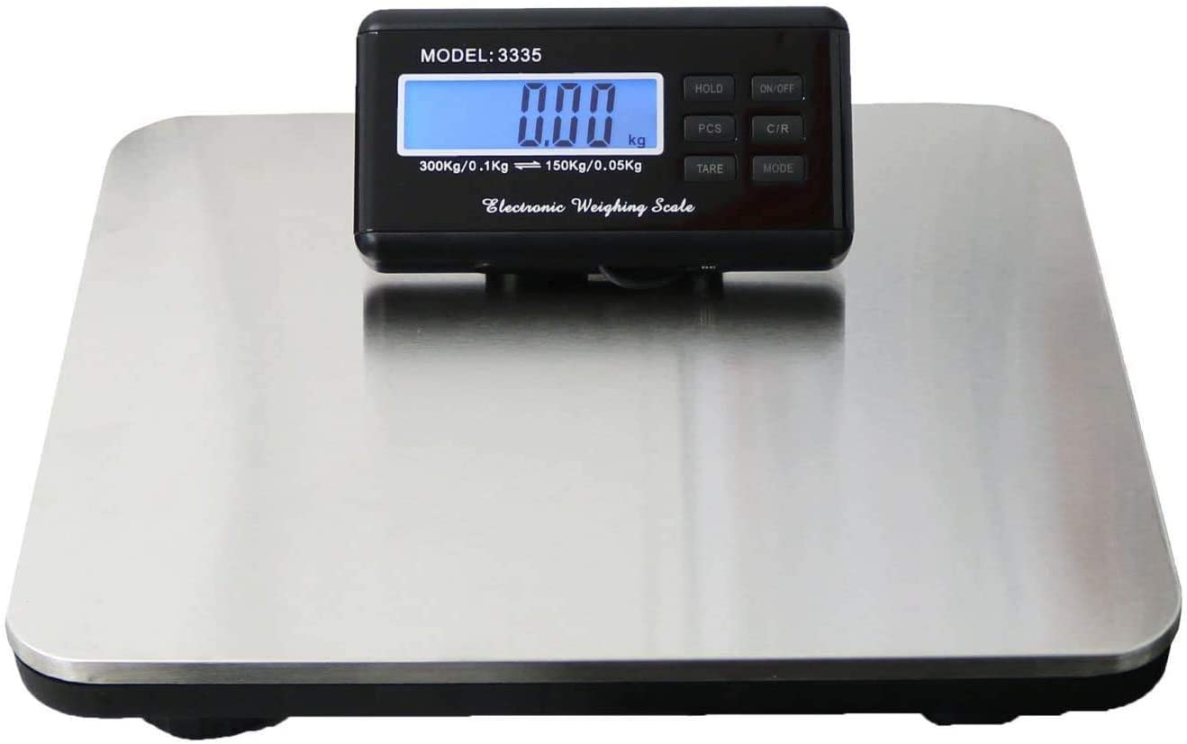"""Shipping Scale Heavy Duty Digital for Shipping and Postal W/ 12""""X 12"""" Durable Stainless Steel Large Platform, 440 lbs Capacity : Office Products"""
