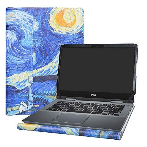 Alapmk Specialmente Progettato PU Custodia Protettiva in Pelle per 14  dell Inspiron 14 2-in-1 5482 Notebook,Starry Night