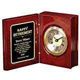 Thanh39 Presonalized Retirement Book Clock with Your Own Message.