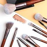 OLOOYA - Juego de 11 brochas de maquillaje para base cosmética, polvo para rubor, sombra de ojos, mezcla de labios de madera