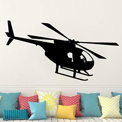 Decoración de la habitación de los niños con pegatinas de pared de luchador de vinilo pegatinas de pared de la habitación del helicóptero pegatinas de decoración de la los niños impermeables97x53cm