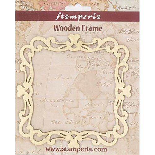 Wood Frame fotolijsten 15 x 15 cm © Stamperia KLS196