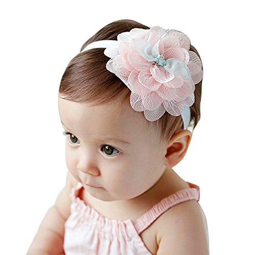 EXIU Bébé fille Bandeaux Fleur Arc cheveux Accessoires