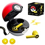 2021 New PokéMon True Wireless Bluetooth Earbuds,Bluetooth 5.0 Auto Pairing,Touch Enabled,Pokeball Charger Design,IPX4 Waterproof,60ms Low-Latency with Noise Canceling