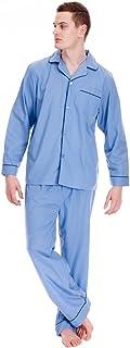 Modern Casuals Mens Polycotton Classic Long Pyjama Nightwear Lounge wear Blue 2XL