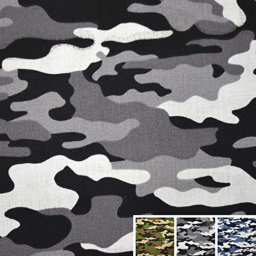 MAGAM-Stoffe Brian Camouflage Baumwollstoff Oeko-Tex Meterware 50cm (02. Grau)