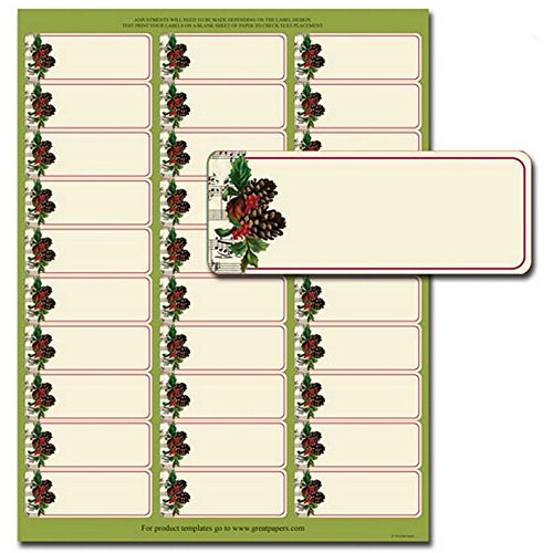 Pinecone Garland Address Labels - 150 Pack