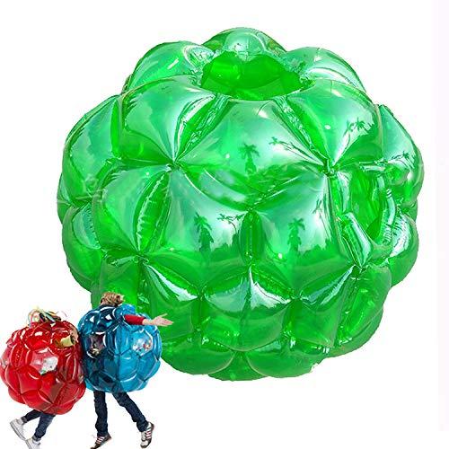 Bubble Football Pelotas Gigantes Hinchables Inflable Bola De Hámster Humano Juguetes Al Aire Libre Bubble Parques Juego Bolas Body 90CM Para Juego De Jardín De Playa Camping Niños Adultos,Verde
