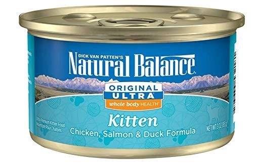 Natural Balance Original Ultra Whole Body Health Kitten Wet Cat Food, Chicken, Salmon & Duck Formula, 3 Ounce Can (Pack Of 24)