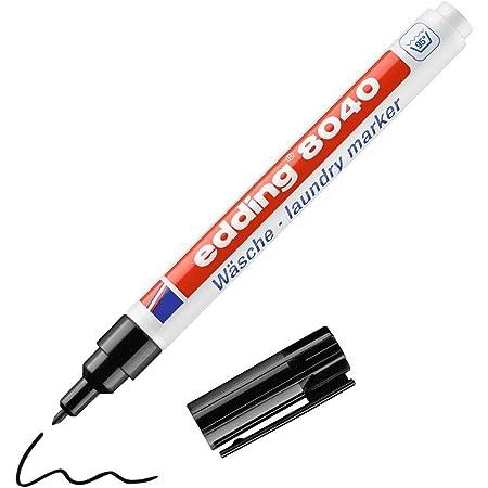 edding 8040 Wäschemarker - schwarz - 1 Stift - Rundspitze 1 mm - Textilstift waschmaschinenfest (95° C) zur Beschriftung von Kleidung - Textilmarker