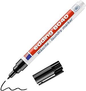 edding 8040 Marqueur spécial tissu - noir - 1 stylo - pointe ronde de 1 mm - feutre textile lavable en machine (95 °C) pou...