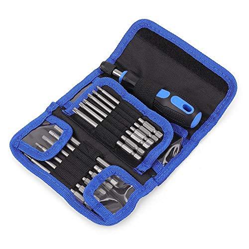 25pc Extra Long Reach Screwdriver Bit Set Torx Screwdriver Set Kit Multitool Screw Driver Tools Set Hand Tools in Bag