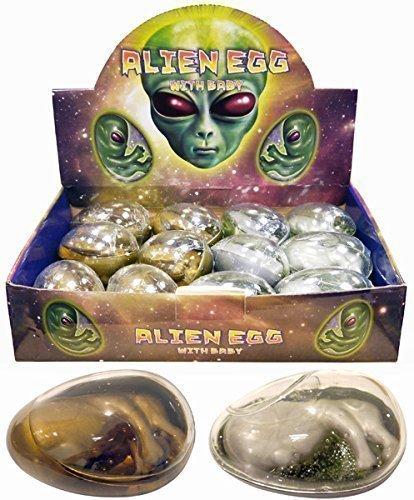 The Home Fusion Company 2 x groß Alien Ei Embryo birthpod Party Geschenk gefallen Geschenk Beute Beutel Füller Spielzeug Spielzeuge