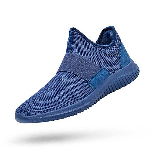 QANSI Mens Sneakers Slip-on Running Walking Shoes Lightweight Workout Gym Shoes Black 12.5