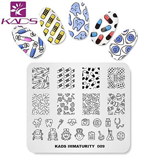KADS Nail Art Stempel Vorlage Unreife Cute Design Bild Platte Stamping Platte für Nail Art DIY Werkzeug für Maniküre(IM009)