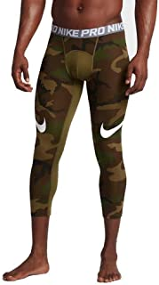 03fa27d8fd062 Nike Men's Pro Cool Camo Printed 3/4 Length Football Tights