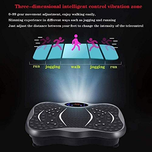 Plataforma Vibratoria Fitness Vibra Disco máquina de fitness, Whole Body Fitness Plataforma Máquinas de ejercicios con el lazo de la talladora del cuerpo, utilizado for el entrenamiento de inicio y la
