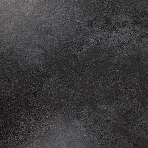 Klebefolie in Schiefer-Optik [200 x 67,5cm] I Selbstklebende Deko-Folie zum Verschönern von Möbel & Küche – hitzebeständig & abwaschbar I Blickdichte Selbstklebefolie in dunkler Stein-Optik