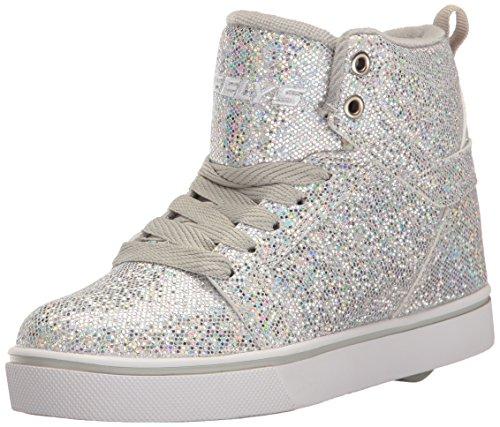 HEELYS Heelys Jungen und Mädchen Uptown High-Top, Silber (Silver Disco Glitter), 39 EU