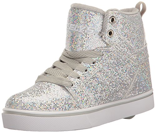 HEELYS Heelys Jungen und Mädchen Uptown High-Top Silber (Silver Disco Glitter) 35 EU