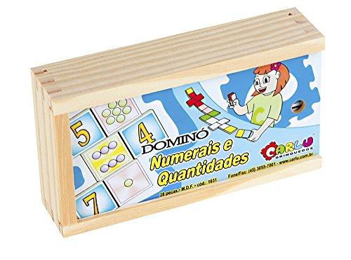 Carlu Brinquedos - Numerais e Quantidades Dominó 28 Peças, 3+ Anos, Multicor, 1031