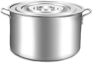 WQF Ollas Grandes, Profunda de Acero Inoxidable Bandeja de cocción Tapa de Acero Inoxidable Base de inducción (Diámetro/Altura: 50 cm / 28 cm)