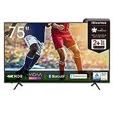 Hisense 75AE7000F 190 cm (75 Zoll) Fernseher (4K Ultra HD, HDR, Triple Tuner...