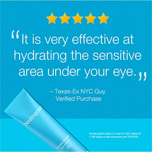 51wjioQSbVL - Neutrogena Hydro Boost Hydrating Gel Eye Cream with Hyaluronic Acid, Dermatologist Recommended, Oil and Fragrance Free, 0.5 fl. oz