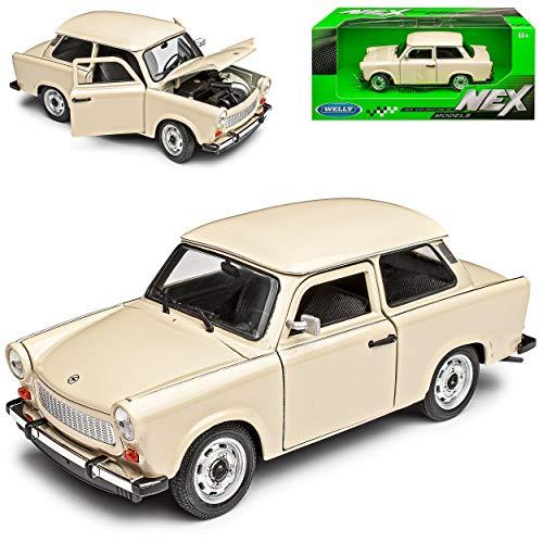 Welly Trabant 601 Limousine Beige 1/24 Modell Auto mit individiuellem Wunschkennzeichen