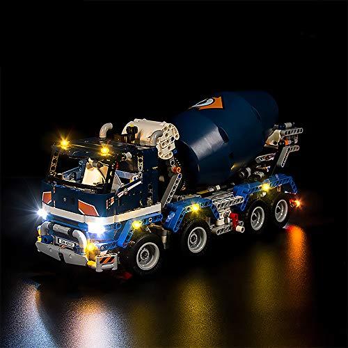 LODIY Beleuchtung Licht LED Beleuchtungsset für Lego Technik Betonmischer LKW 42112 (Nicht Enthalten Lego Modell)