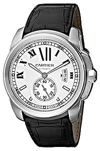 Cartier Men's W7100037 De Cartier Leather Strap Watch image