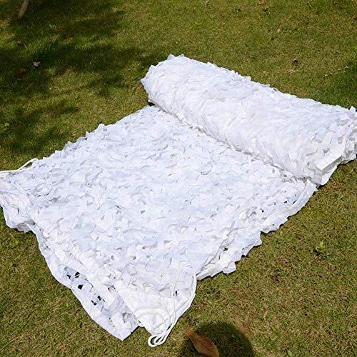 KEANCH Red de Camuflaje de Oxford, Camo Netting Shishing Net White Blanco Persianas Netas, Cazando Las Redes De Protección Solar, para Acampar Decoraciones De Caza Militar(Size:3x4m,Color:A)