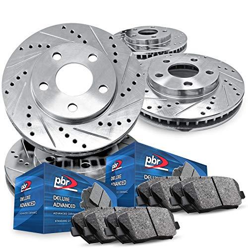 For 2013-2016 Dodge Dart Full Kit PBR AXXIS Drill/Slot Brake Rotors Kit + Ceramic Pads