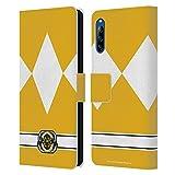 Head Case Designs sous Licence Officielle Power Rangers Ranger Jaune Costumes Rétro Coque en Cuir...
