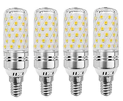 EBD Lighting E12 LED Corn Bulbs 16W LED Candelabra Bulb (4 Pack) 3000K Warm White 80 LEDs 2835 SMD 1500LM 120W Incandescent Equivalent Decorative Candle Base E12 Corn LED Chandelier Bulbs,AC85-265V