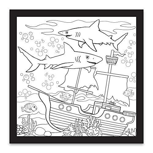 Rico Industries Shark Design Color-Me Filz, 30,5 x 30,5 cm